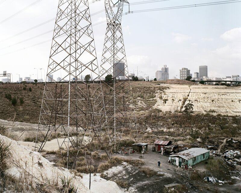 David Goldblatt, 'Squatter camp, slimes dam and the city from the southwest, Johannesburg. 12 July 2003', 2003, Photography, Digital print on 100% cotton rag paper, Goodman Gallery
