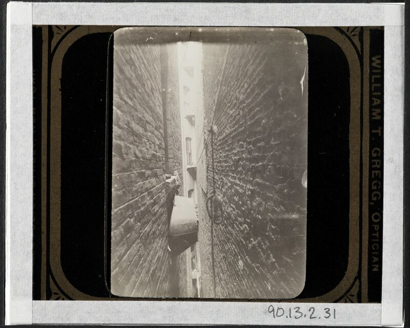 Jacob A. Riis, 'Bath-tub in airshaft', ca. 1897, Photography, Gelatin silver transparency, Museum of the City of New York