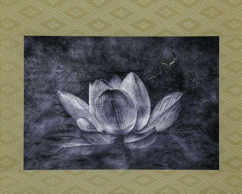 Kenji Wakasugi, 'Sign of the Buddha (Printed on silver leaf and mounted on a scroll by Genyu Yoshihashi)', 2017, Photography, Scroll, Ippodo Gallery