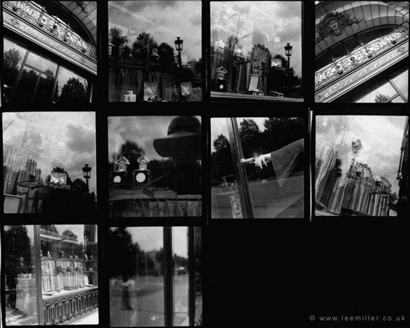 Lee Miller, 'contact sheet , Guerlain shopfront, Paris', 1930, Photography, Silver gelatin print, °CLAIRbyKahn Galerie