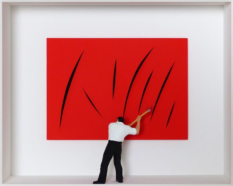Volker Kühn, 'Homage to Fontana ', Mixed Media, Mixed media, Plus One Gallery
