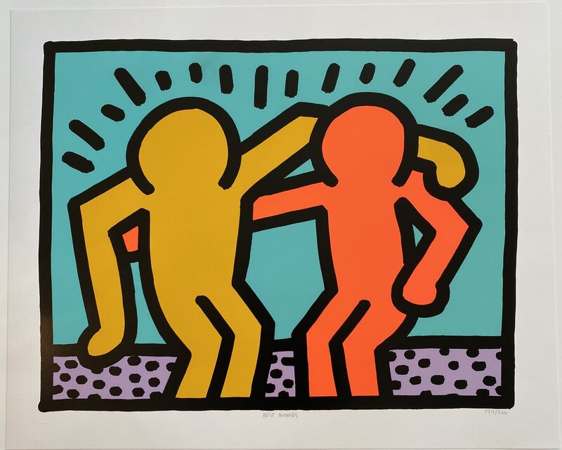Keith Haring, 'Best Buddies', 1990, Print, Screenprint in colors, on wove paper, with full margins., Fine Art Mia