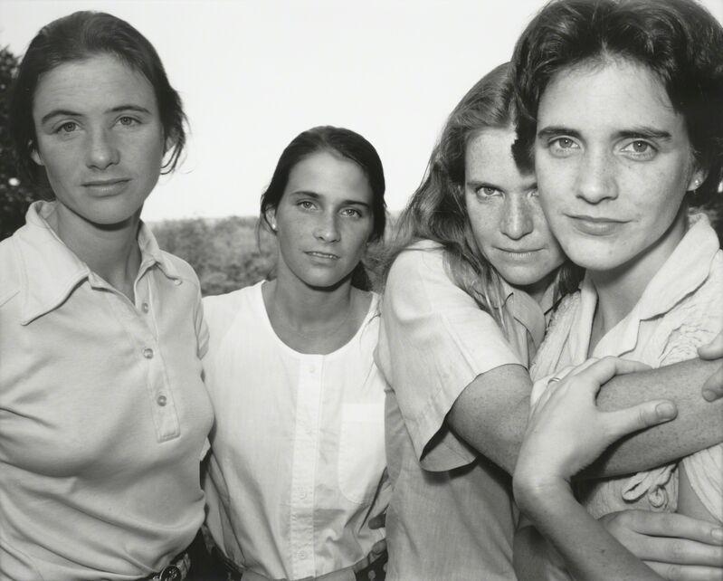 Nicholas Nixon, 'The Brown Sisters, East Greenwich, Rhode Island', 1980, Photography, Gelatin silver print, San Francisco Museum of Modern Art (SFMOMA)