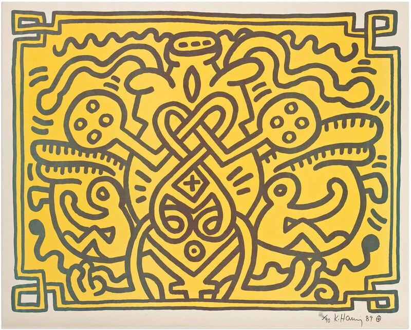 Keith Haring, 'Chocolate Buddha #4', 1989, Print, Lithograph, Graeme Jackson
