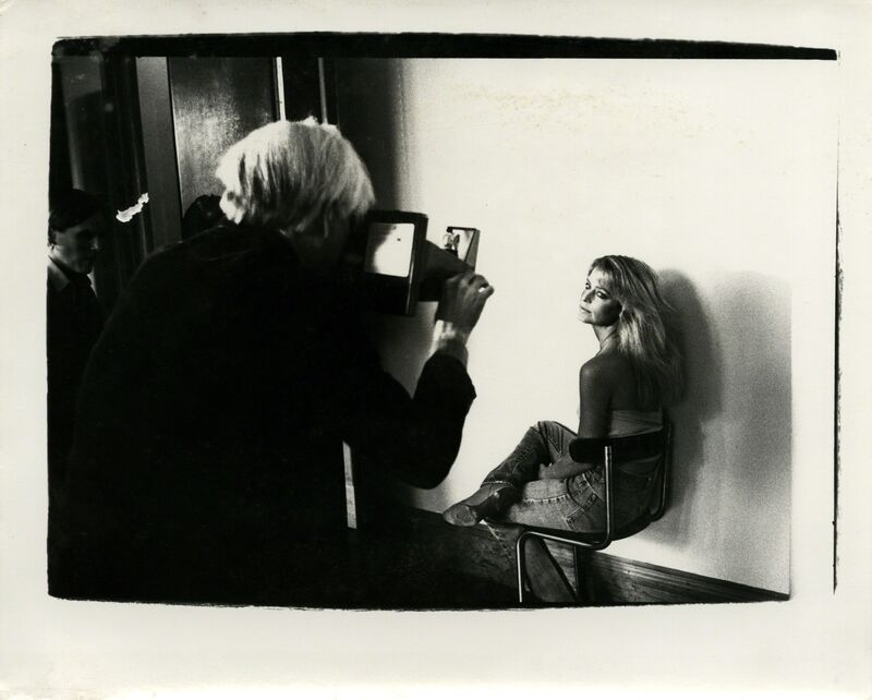 Andy Warhol, 'Andy Warhol, Photograph with Farrah Fawcett Majors at The Factory, 1979', ca. 1979, Photography, Silver gelatin print, Hedges Projects