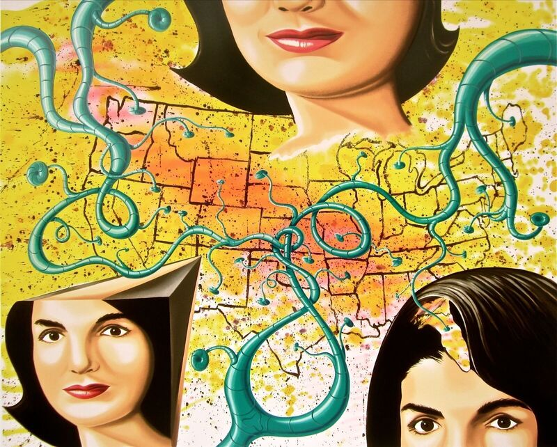 Kenny Scharf, 'Three Faces of Jackie', 1998, Print, Silkscreen on wove paper, Art Commerce