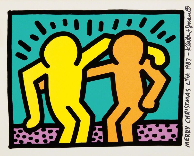 Keith Haring, 'Best Buddies, from Pop Shop I', 1987, Print, Screenprint in colors, on Conventry rag paper, with full margins, Phillips
