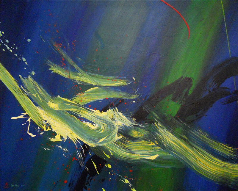 Don Ahn, 'Wild Surfing', 2000, Painting, Acrylic on canvas, Walter Wickiser Gallery