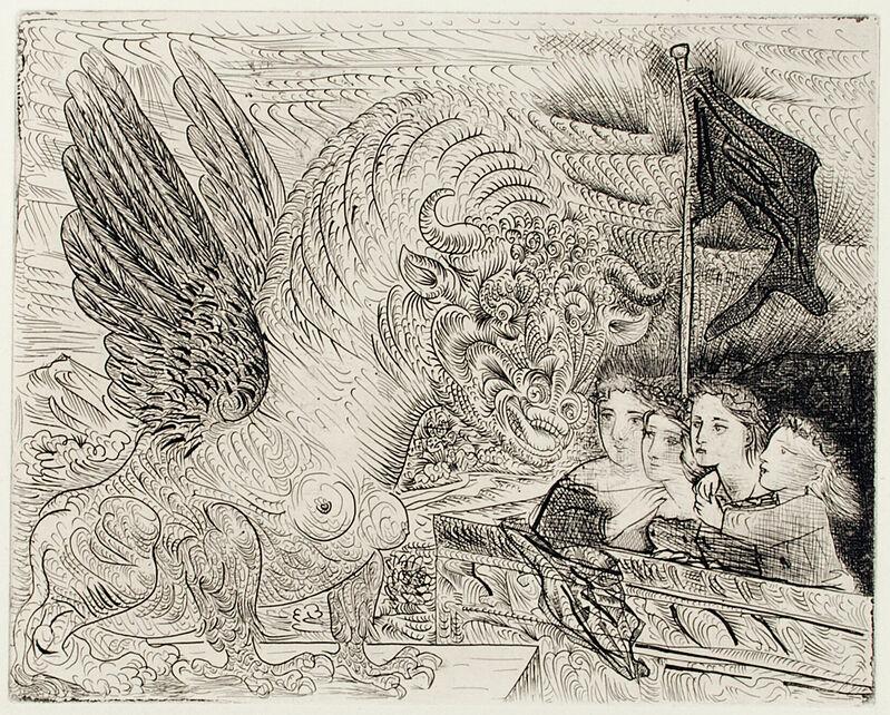 Pablo Picasso, 'TAUREAU AILÉ CONTEMPLÉ PAR QUATRE ENFANTS (B. 229; G/B 444; S.V. 13)', 1934, Print, Etching on Montval laid paper, Marc Rosen Fine Art Ltd