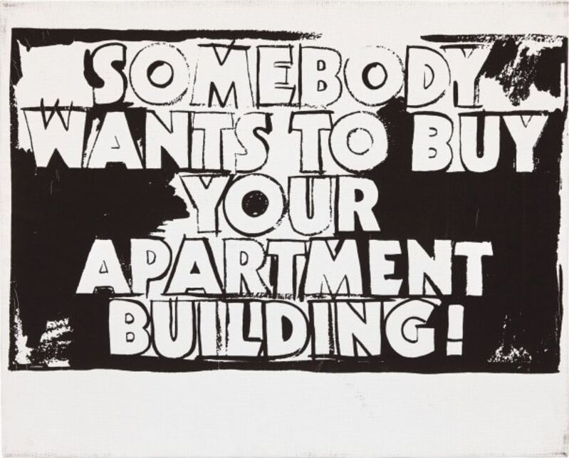 Andy Warhol, 'Somebody Wants to Buy your Apartment Building! (Positive)', 1985, Print, Silkscreen inks on synthetic polymer paint on canvas, Gallery Red