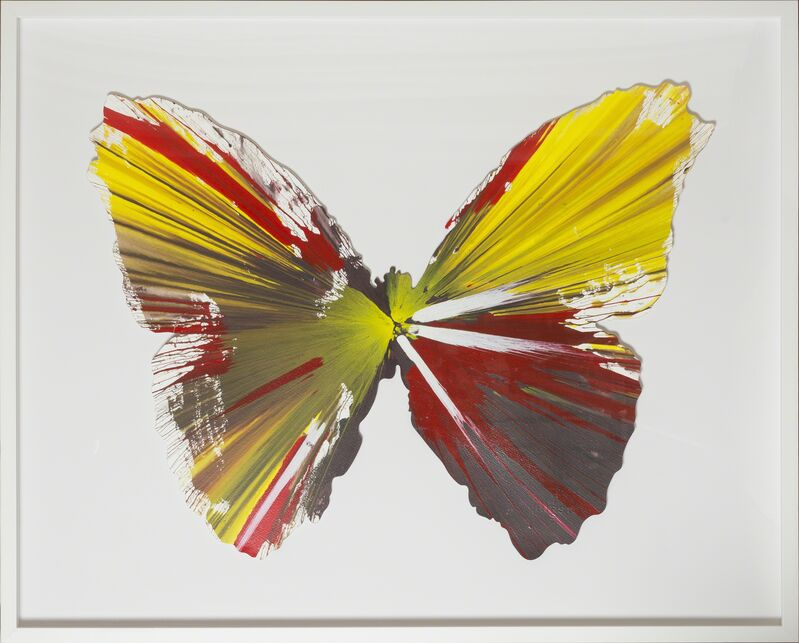 Damien Hirst, 'Spin Painting - Butterfly ', 2009, Painting, Painting on paper, Rudolf Budja Gallery