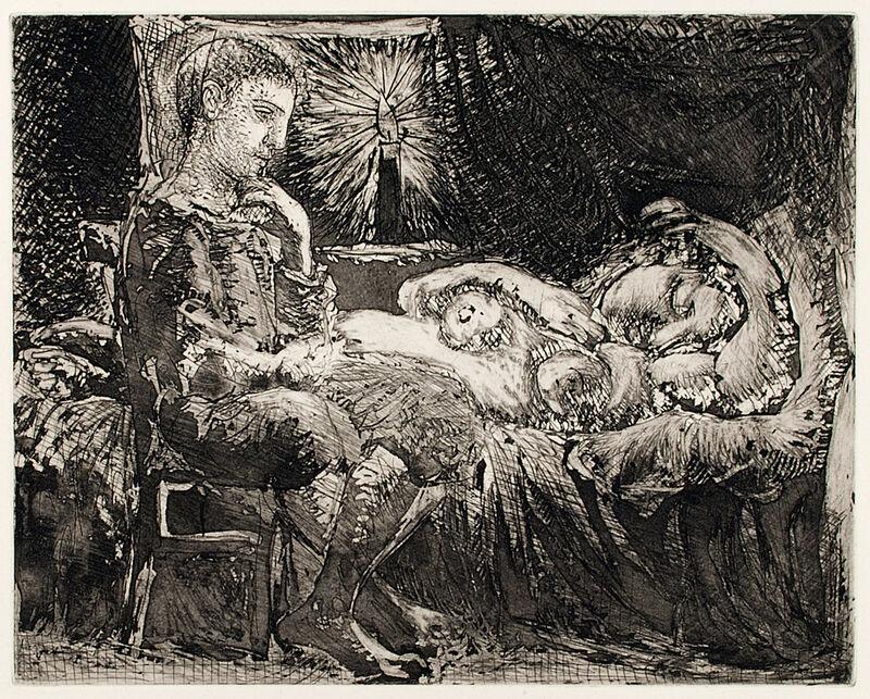 Pablo Picasso, 'GARÇON ET DORMEUSE À LA CHANDELLE (B. 226; G/B 440; S.V. 26)', 1934, Print, Etching, scraper, burin and aquatint on Montval laid paper, Marc Rosen Fine Art Ltd