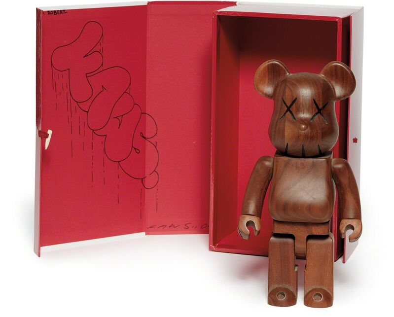 KAWS, 'Be@rbrick 400%', 2005, Design/Decorative Art, Stained Karimoku wood multiple, contained in the original red and white cardboard box, Phillips