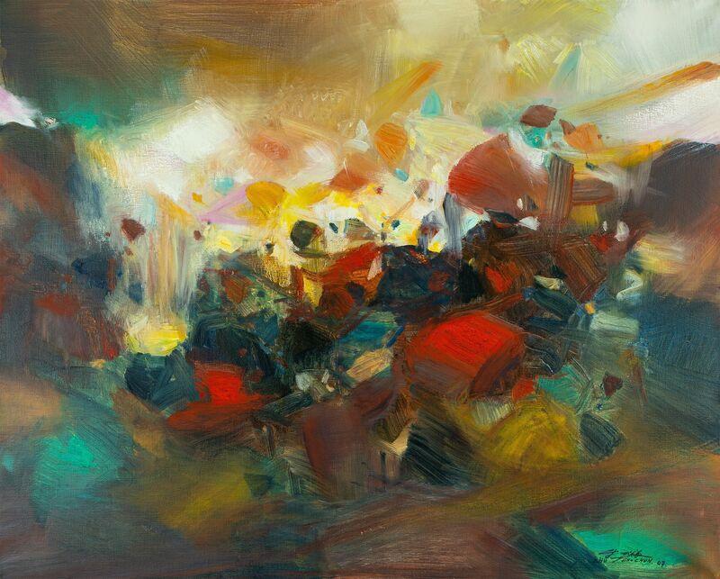 Chu Teh-Chun, 'Ondes émotives ', 2007, Painting, Oil on canvas, Opera Gallery