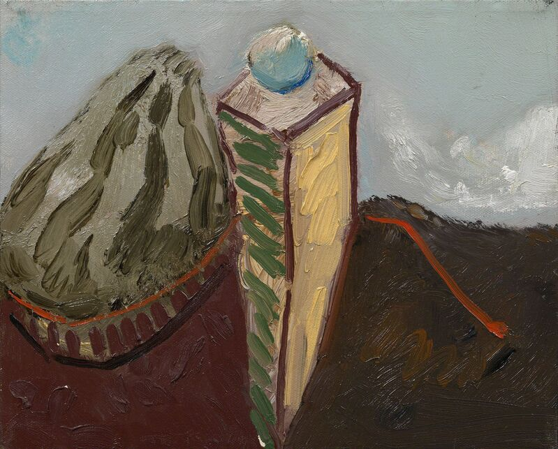 Maurice Cockrill, 'Rock, column, cloud', 1989, Painting, Oil on canvas, Waterhouse & Dodd