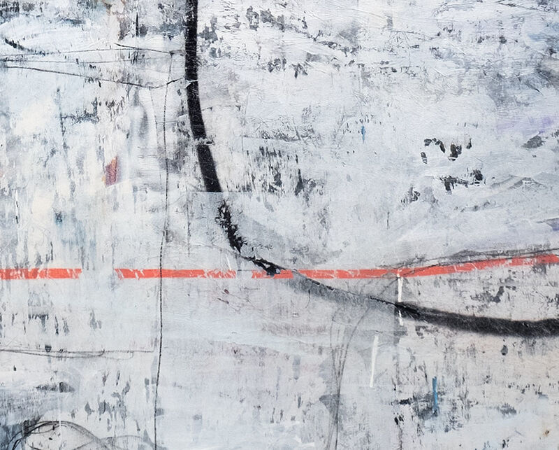 James Godman, 'I'd really like to go see people now (Abstract painting)', 2020, Painting, Paper and acrylic on panel, IdeelArt