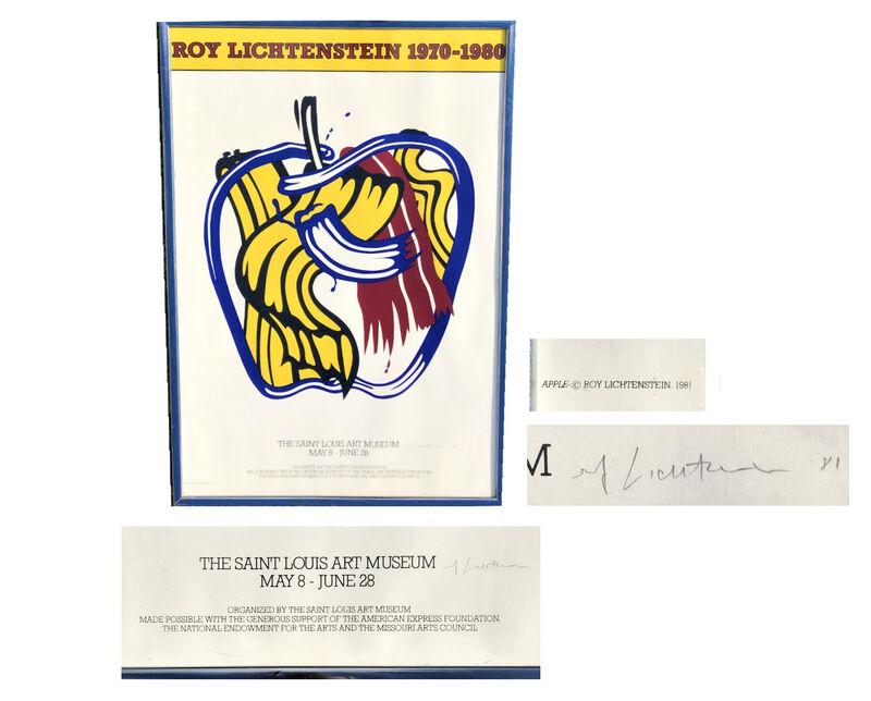 """Roy Lichtenstein, '""""Roy Lichtenstein 1970-1980"""", SIGNED Exhibition Poster, Saint Louis Art Museum', 1981, Print, Screen-print with museum period aluminum frame., VINCE fine arts/ephemera"""