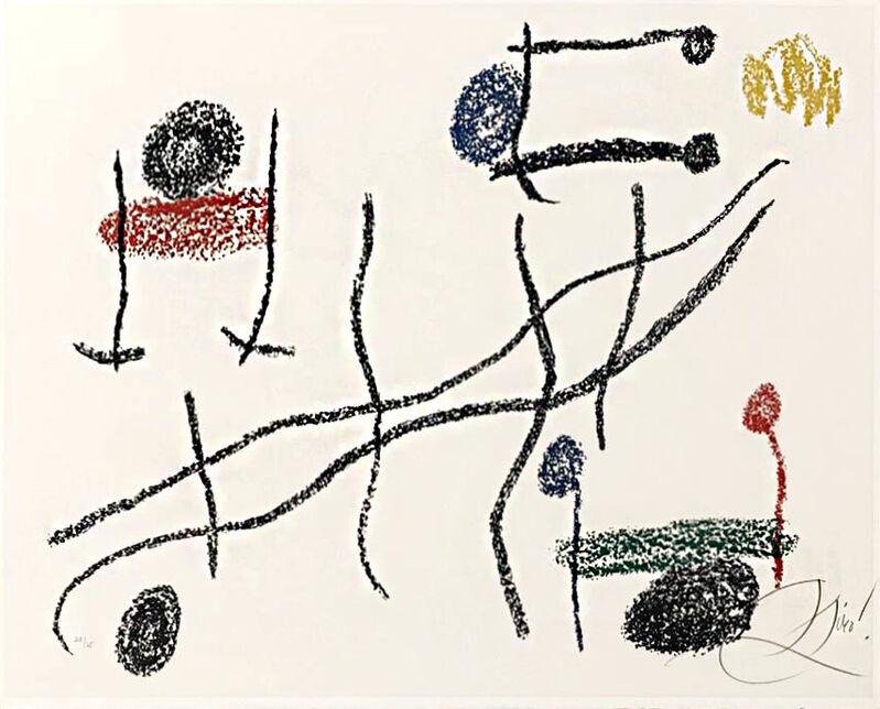 Joan Miró, 'Album 21, Plate 16', 1978, Print, Color Lithograph on Arches paper., Masterworks Fine Art