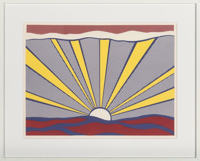 Roy Lichtenstein, 'Sunrise', 1965, Print, Offset lithograph in colors, on lightweight wove paper, Heritage Auctions