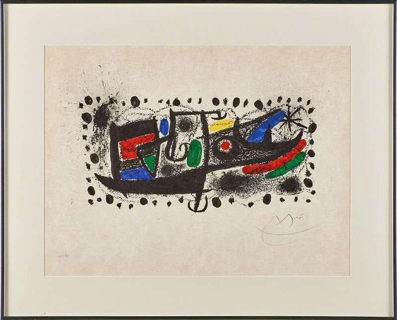 Joan Miró, 'Joan Miro und Katalonien', 1969, Print, Lithograph in colors (framed), Rago/Wright