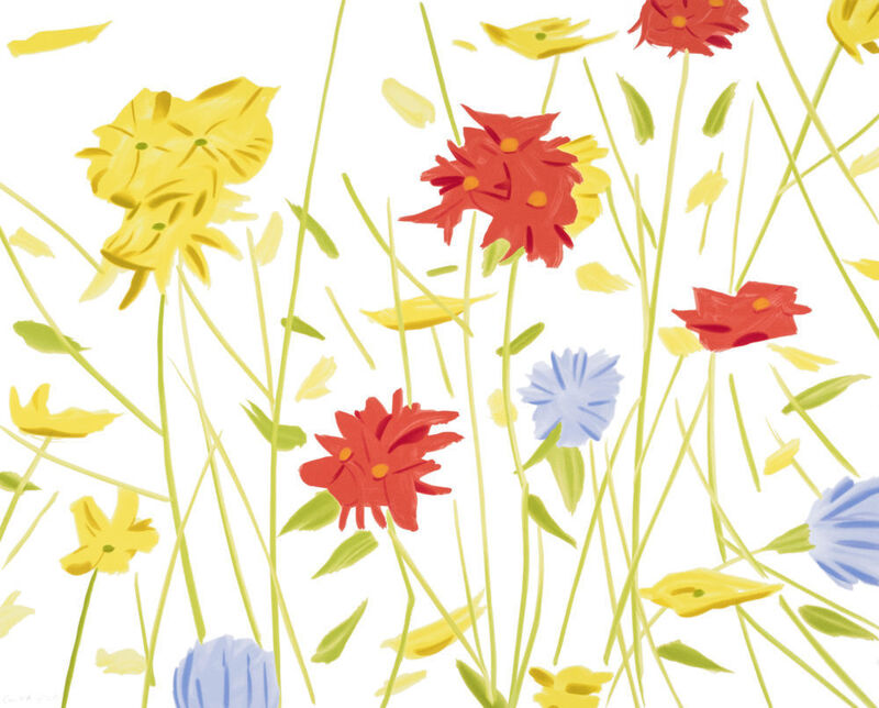 Alex Katz, 'Wildflowers', 2017, Print, 21-color silkscreen on Saunders Waterford 425 gsm paper, Haw Contemporary