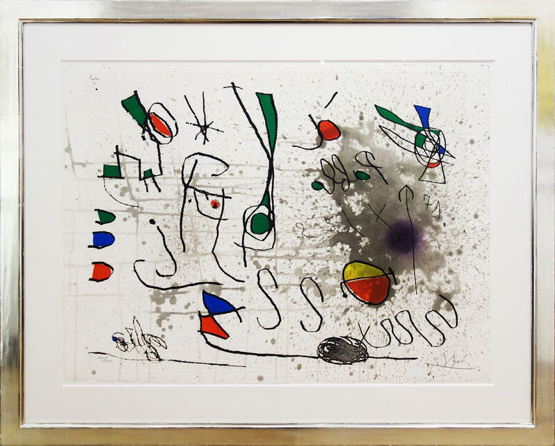 Joan Miró, 'Hommage à Picasso', 1972, Print, Etching and aquatinta on Velin d´Arches 57x76 cm, Galerie Kellermann