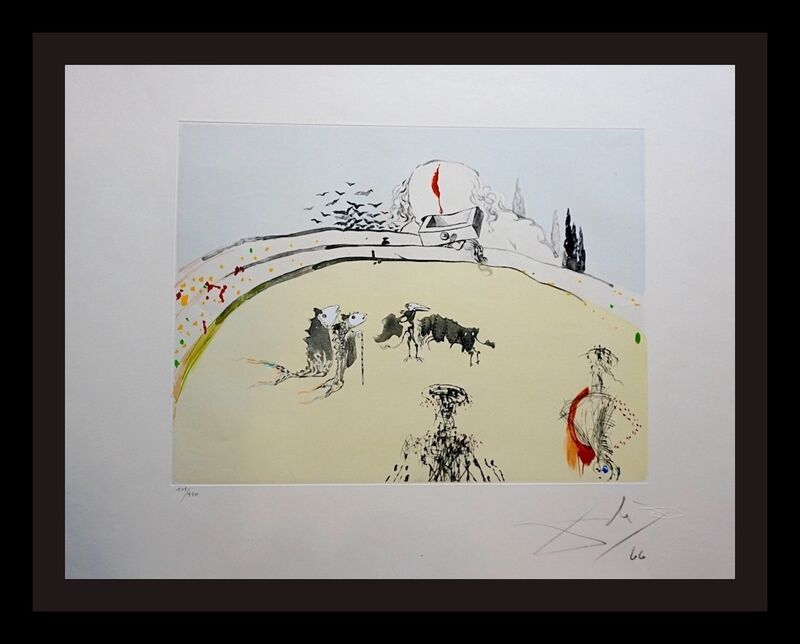 Salvador Dalí, 'Tauromachi Surrealiste Bullfight with Drawer', 1970, Print, Etching, Fine Art Acquisitions Dali