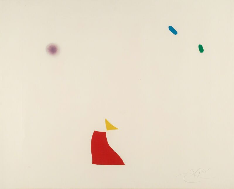 Joan Miró, 'Pl. 5, from Série Mallorca', 1973, Print, Aquatint in colors on wove paper, Heritage Auctions