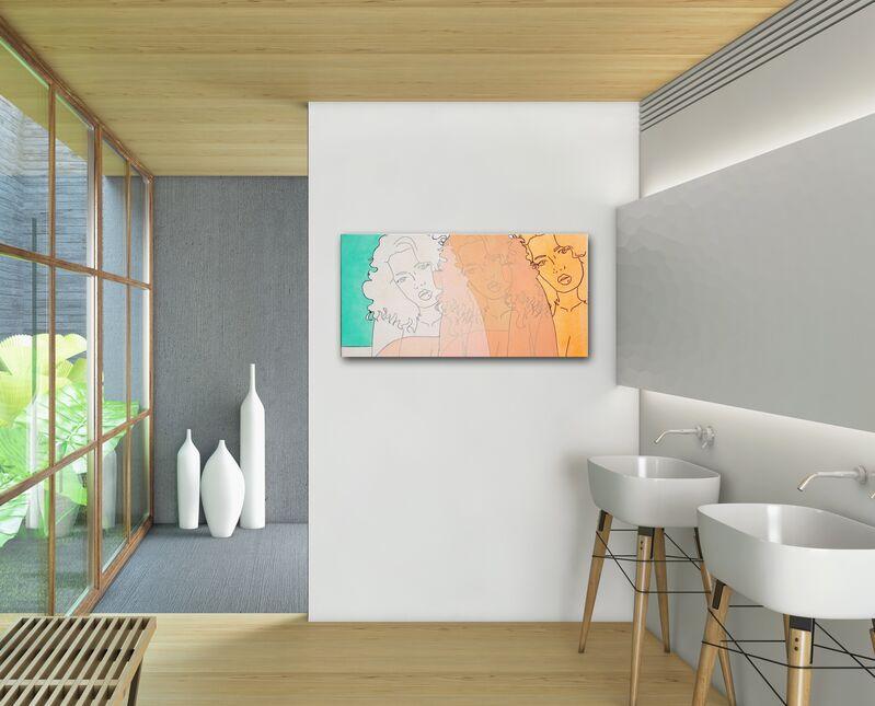 Hilary Bond, 'Sunset Orange, Apricot, Cream', 2015, Painting, Acrylic, Oil on Canvas, Artspace Warehouse