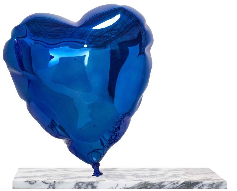 Mr. Brainwash, 'Balloon Heart (Blue) ', 2019, Sculpture, Polished bronze sculpture with metallic finish on marble base, Taglialatella Galleries