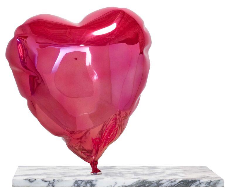 Mr. Brainwash, 'Balloon Heart (Pink)', 2019, Sculpture, Polished bronze sculpture with metallic finish on marble base, Taglialatella Galleries