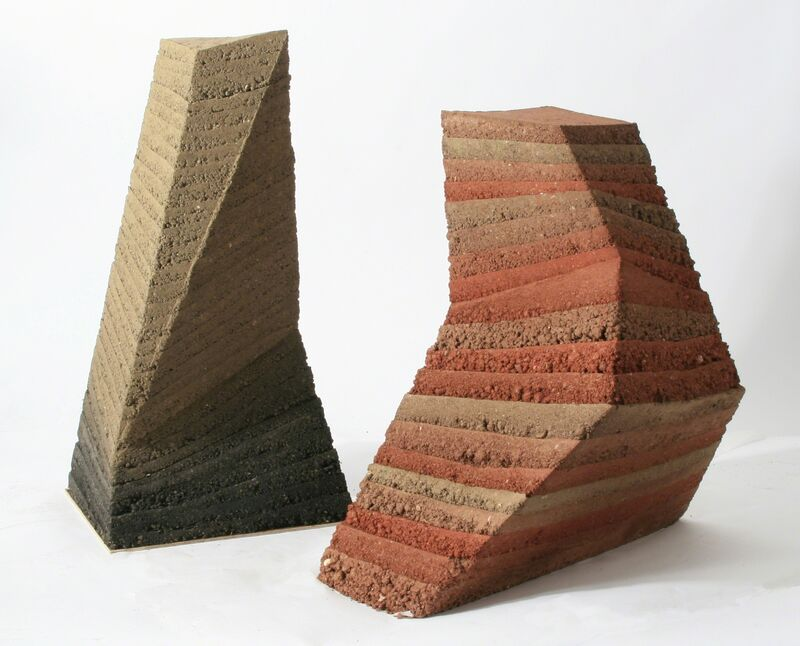 Briony Marshall, 'Earth Time', 2017, Sculpture, Rammed Earth and Carbon Black, Candida Stevens Gallery