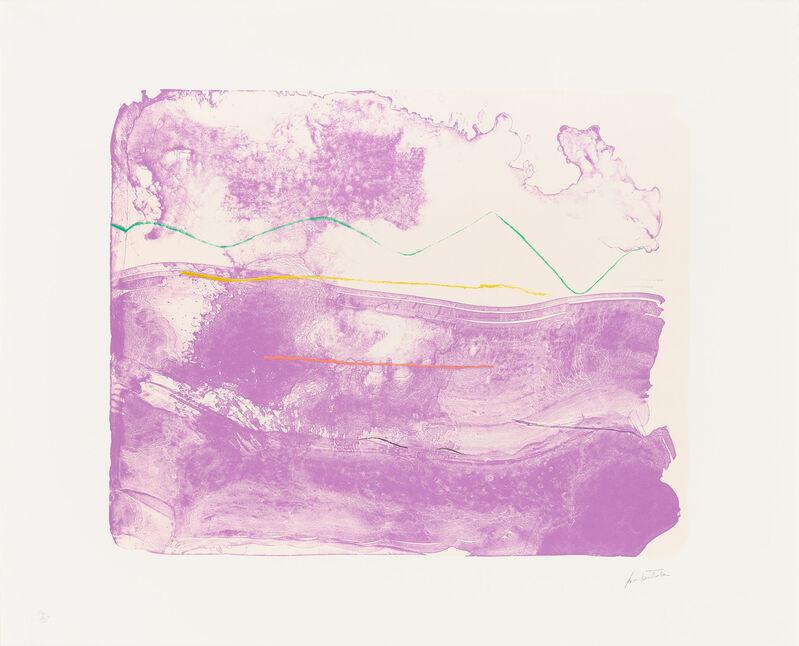 Helen Frankenthaler, 'Lilac Sweep', ca. 2003-06, Print, Lithograph, Christopher-Clark Fine Art