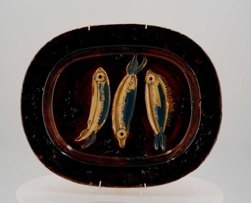 Pablo Picasso, 'Three sardines', 1947, Design/Decorative Art, White earthenware clay, polychromed and glazed, Van Ham