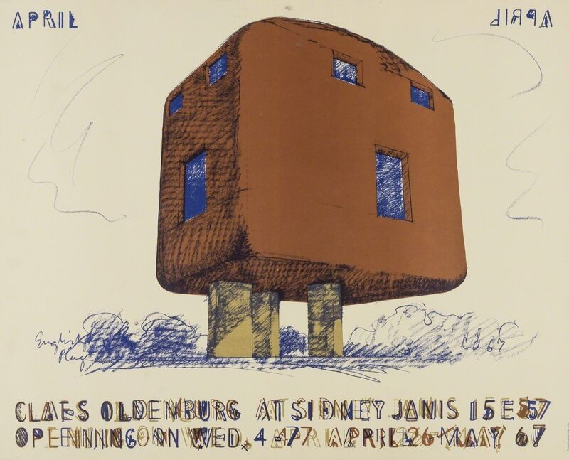Claes Oldenburg, 'Poster for Claes Oldenburg at Sidney Janis Gallery', 1967, Print, Lithograph printed in colours, on wove paper, Forum Auctions