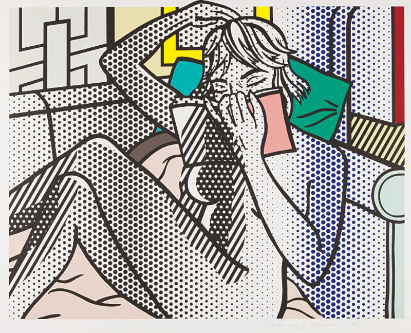 Roy Lichtenstein, 'Nude Reading', 1994, Print, Relief print in colors, on Rives BFK mold-made paper, with full margins, Upsilon Gallery
