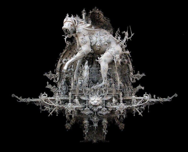 Kris Kuksi, 'The Plague Parade Una Quarta Movimento', 2013, Mixed Media, Mixed media assemblage, Joshua Liner Gallery