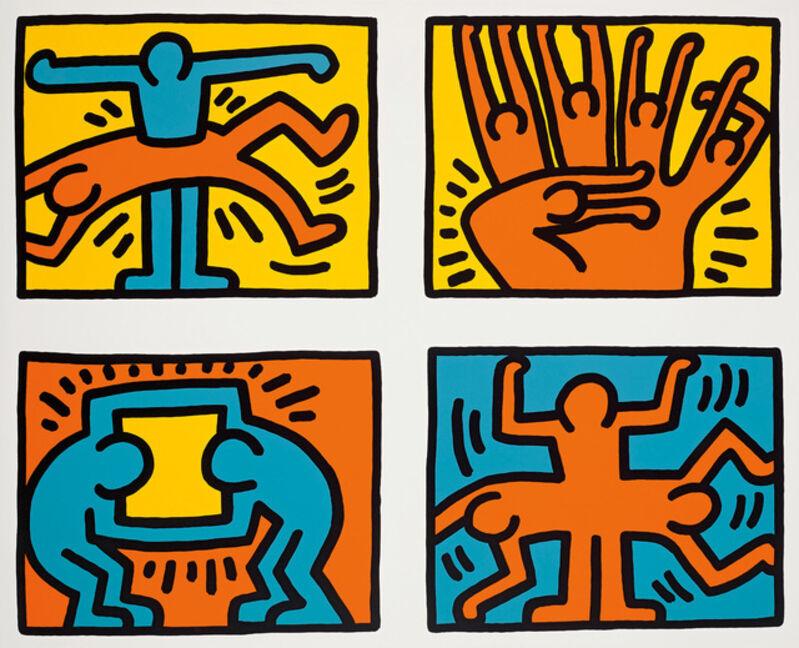 Keith Haring, 'Pop Shop Quad VI (Set)', 1989, Print, Silkscreen Print, ArtLife Gallery