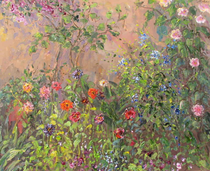 Bruno Zupan, 'My Patio with Moonflowers and Zinnias', 2007, Painting, Oil on Canvas, Galerie d'Orsay
