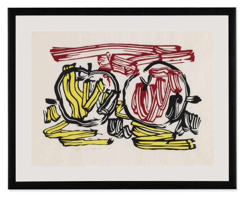 Roy Lichtenstein, 'Red Apple and Yellow Apple (Corlett 197)', 1983, Print, Woodcut printed in colors on handmade Iwano Kizuki Hosho paper, Artsy x Tate Ward