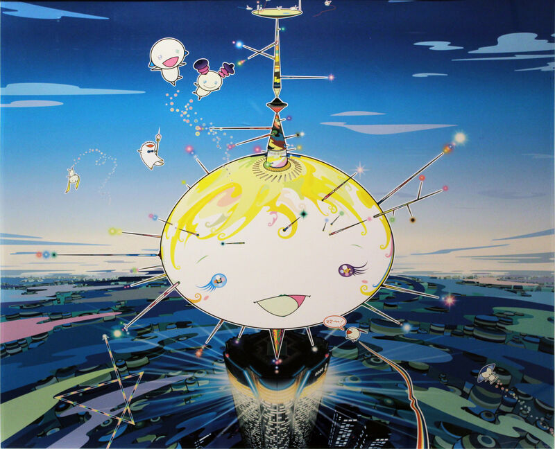 Takashi Murakami, 'Manu Came From the Sky', 2007, Print, Lithograph, Taglialatella Galleries