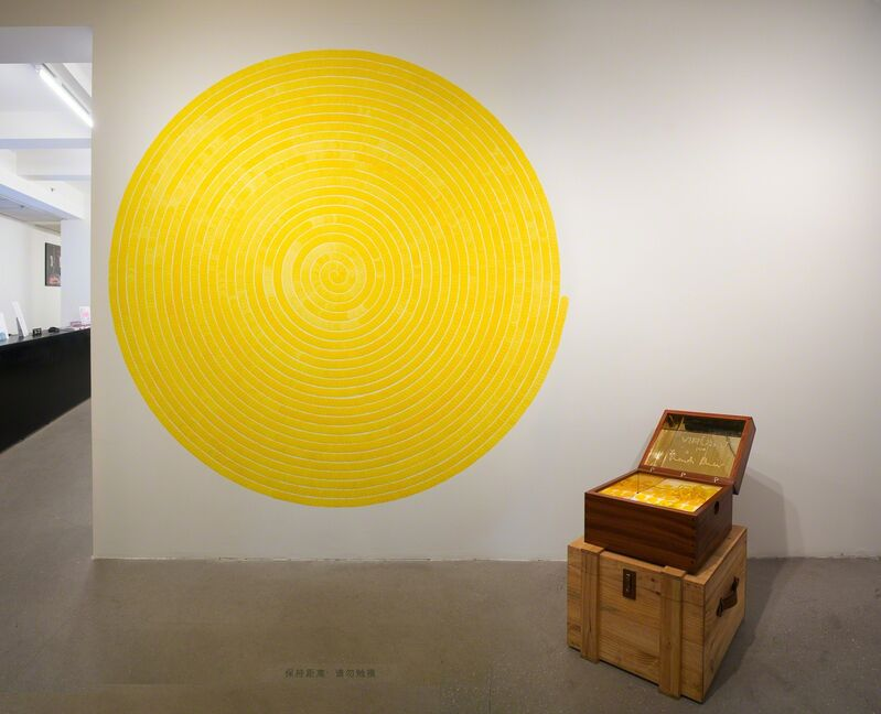 Bharti Kher, 'Virus V', 2014, Sculpture, Teak wood, brass, bindis, GALLERYSKE