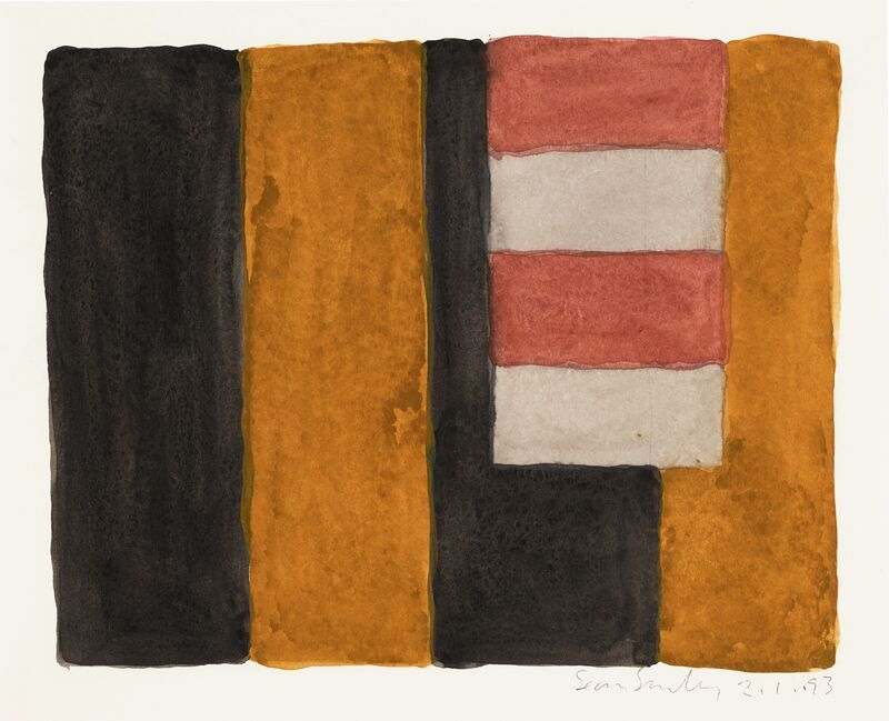 Sean Scully, '2.1.93', 1993, Drawing, Collage or other Work on Paper, Watercolour on paper, Edouard Simoens Gallery