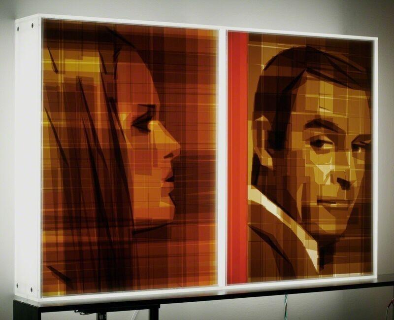 Mark Khaisman, 'Bond #1', 2013, Mixed Media, Packaging tape on acrylic panelwith translucent resin light box, Avant Gallery