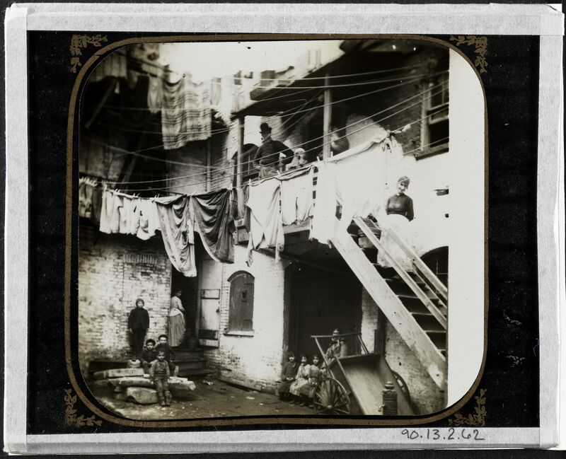 Jacob A. Riis, 'Court at No. 24 Baxter Street', ca. 1980, Photography, Gelatin silver transparency, Museum of the City of New York