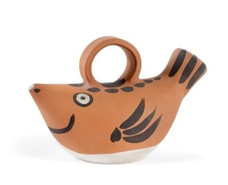 Pablo Picasso, 'Poisson (A.R.139)', 1952, Design/Decorative Art, Jug in red earthenware clay, decoration with black and white engobe, HELENE BAILLY GALLERY