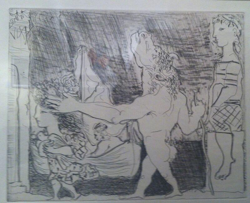 Pablo Picasso, 'Minotaur aveugle guide par une fillete,III', 1934, Print, Etching and burin, Ruth Ziegler Fine Arts Ltd.