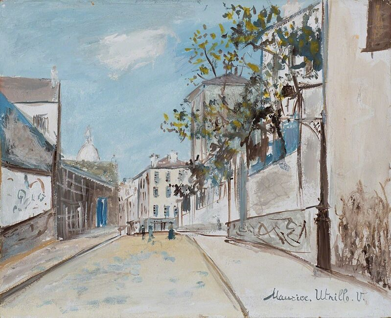 Maurice Utrillo, 'Rue du Montana - Cenis a Montmatre', 1920, Painting, Oil and tempera on cardboard, Finarte