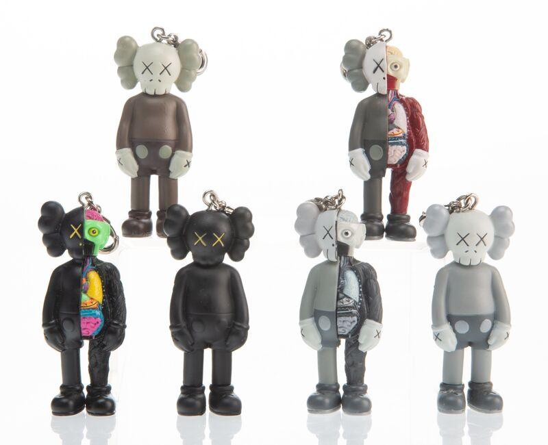 KAWS, 'Keychains (six works)', 2009, Sculpture, Painted cast vinyl, Heritage Auctions
