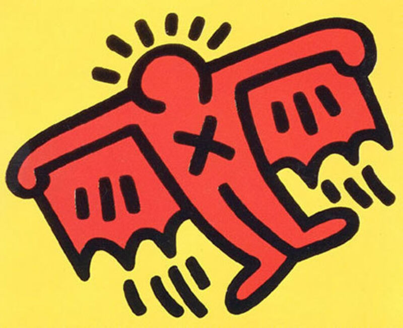 Keith Haring, 'Icons: (D) Batman', 1990, Print, Silkscreen with embossing on paper, Taglialatella Galleries